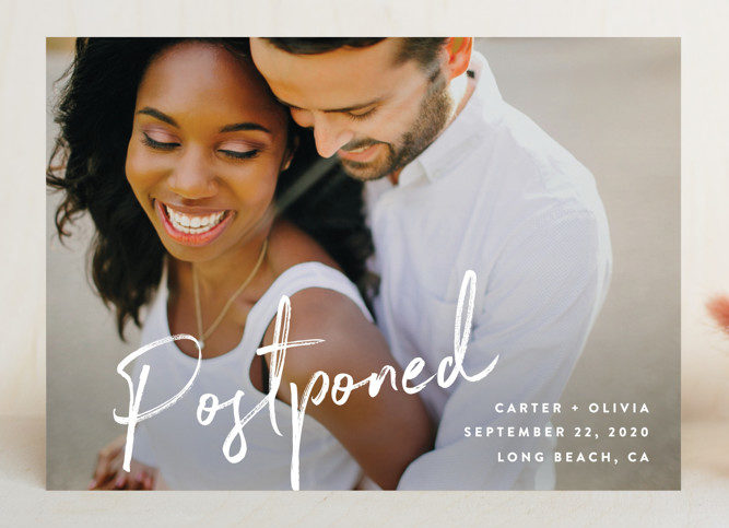 photo change the date cards by Minted