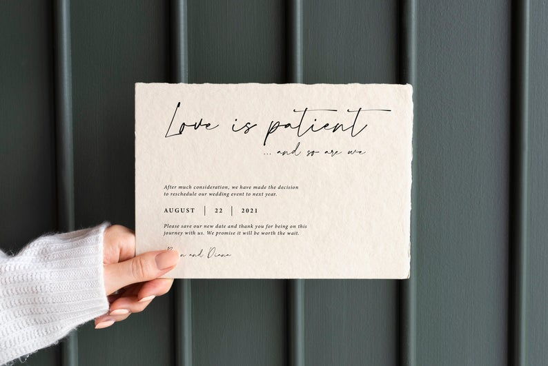 love is patient cards by PaperlyCanada via Etsy