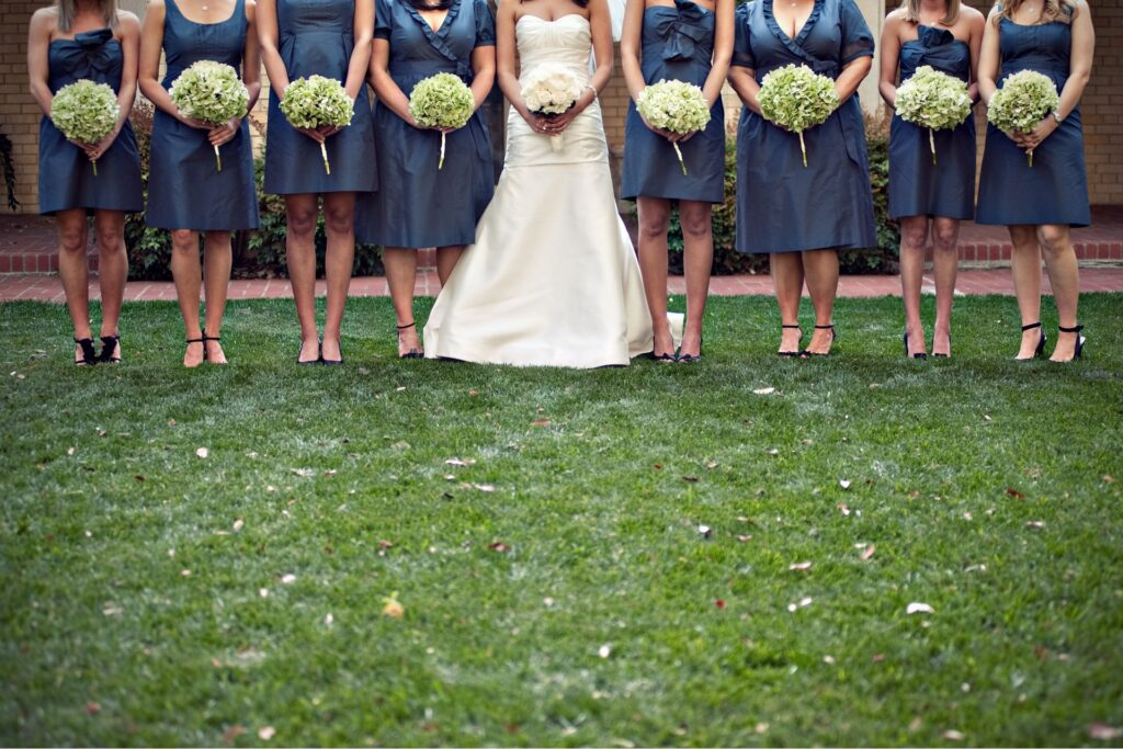 keep it short so bridesmaids will re-wear the dress