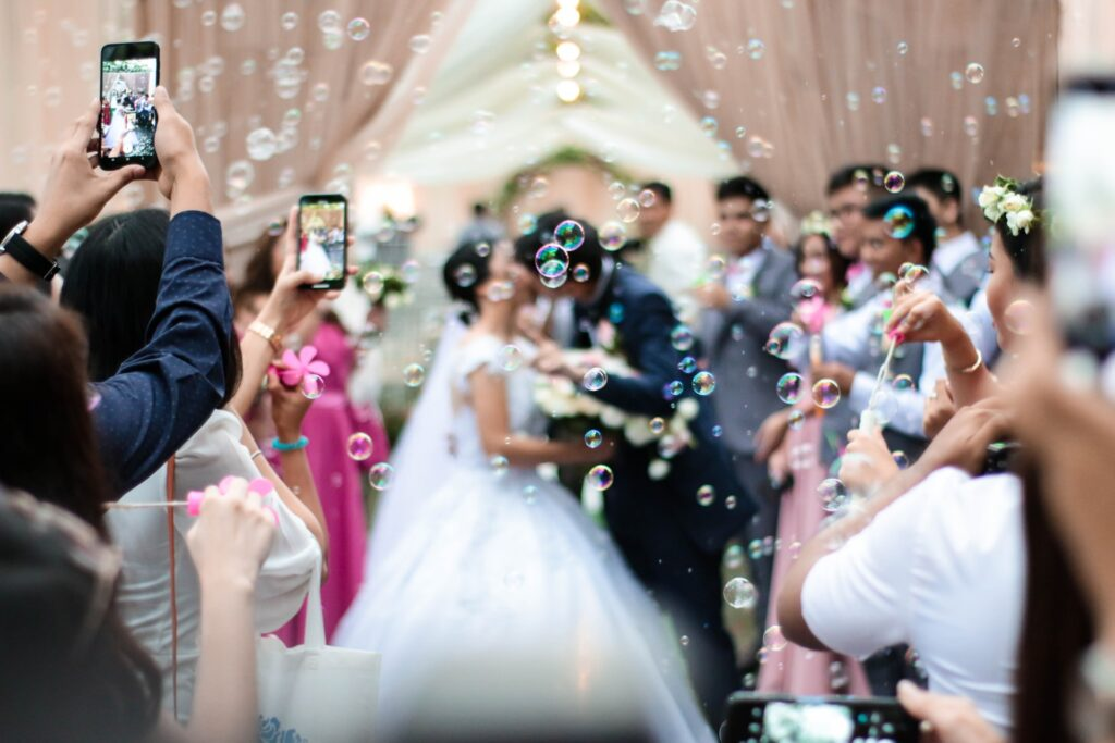 social media etiquette to respect the couple's wishes