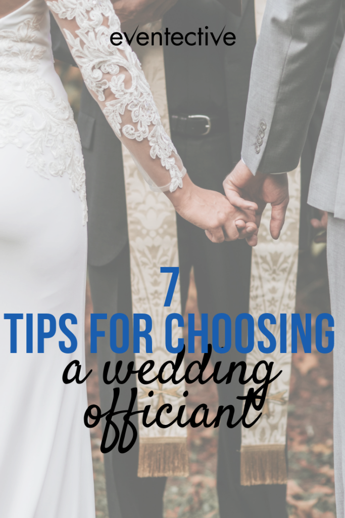 7 tips for choosing a wedding officiant