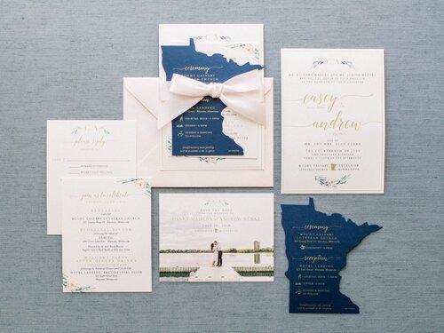 non-square unique wedding invitation