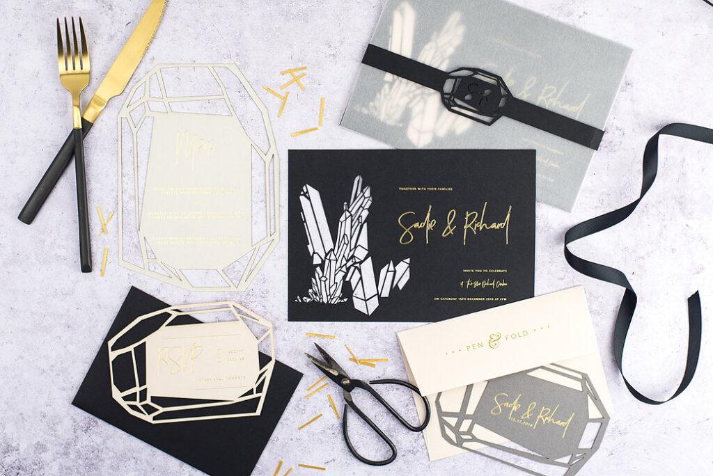 cut-out unique wedding invitation