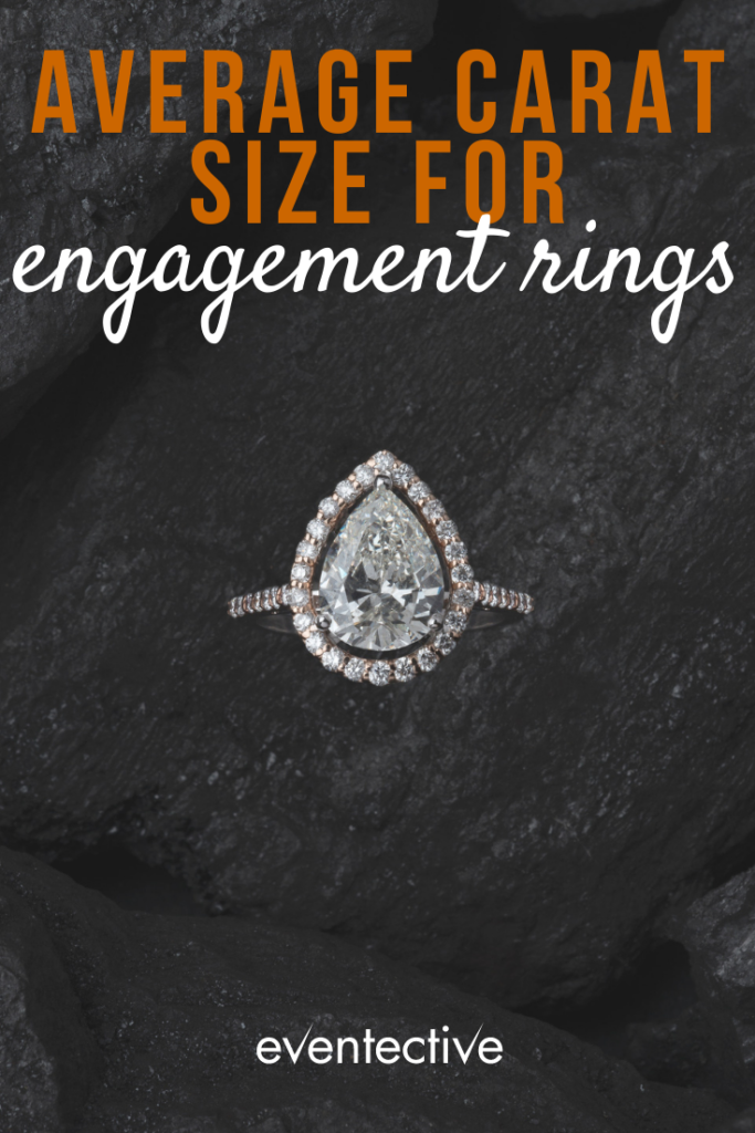 what is the average carat size for an engagement ring?