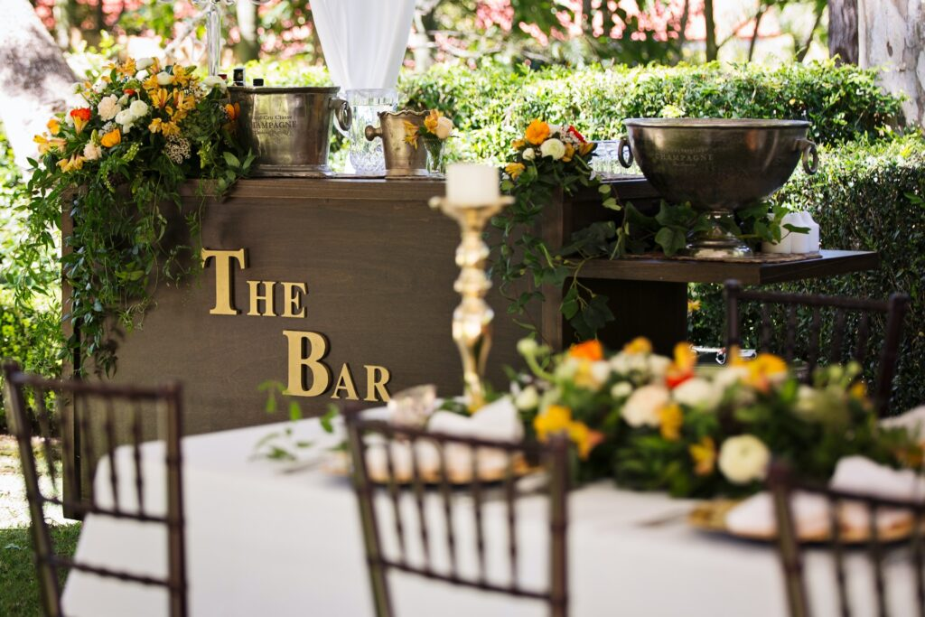 wedding reception FAQs include meal and bar options